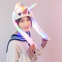 Bayar Di TempatLampu Led Banny Hat Unicorn Melody Topi Telinga Kelinci