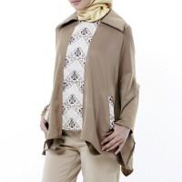 Baju Atasan Kemeja Blouse Wanita Creamy Batik Coat Aralus Premium