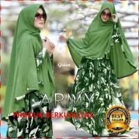 Gamis Wanita Motif Loreng Army Syari - Baju Hijab - Gamis Balotell