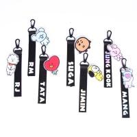 Kpop BTS BT21 Lanyard Keychain Pendant Cute Phone Strap Key Chain