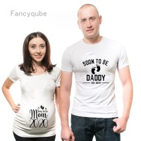 New Soon To Be Daddy/Mom T Shirt Maternity Couple Pregnant T-Shirt