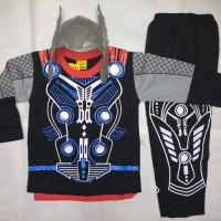 Baju topeng Thor - Baju Kostum Superhero Anak Laki-laki Thor + topeng