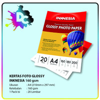 Kertas Photo - High Glossy Photo Paper Inknesia A4