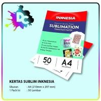 Kertas Sublim / Sublimation Paper Inknesia ukuran A4 isi 50 Lembar