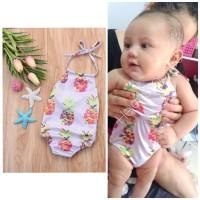 Baju renang bayi 3bln-3thn swimsuit purple nanas