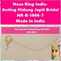 Anting Hidung Jepit-Nose Ring-NR-B-1806-7-Bridal Nath Hoop-Ori India