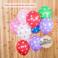 Balon Latex polkadot 1 PACK ISI 100 Pcs / Balon Per Pack / Balon Karet