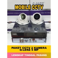 PAKET CCTV GLENZ 5MP 2 KAMERA 2560P KOMPLIT 1TB / GLENZ 5 MEGAPIXEL