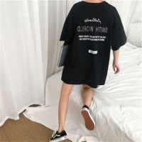 t shirt tmblr japan style k pop black pink oversized