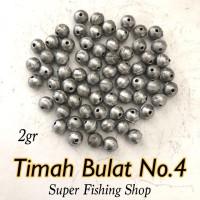 Timah Bulat No 4 (Isi 20 butir)