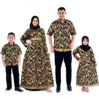 Baju dress jumbo 120 couple keluarga batik katun prada dan baju anak