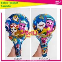 Balon Pentung Baby Shark | Balon Raket | Balon Ulang Tahun