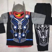 Baju Topeng anak Thor-Baju Kostum superhero Thor -Kostum Thor + topeng
