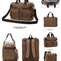 tas selempang kanvas tas multifungsi tas laptop tas pria dan wanita