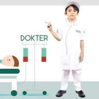 Baju dokter anak Komplit aksesoris Lucu - Baju Profesi dokter anak TK