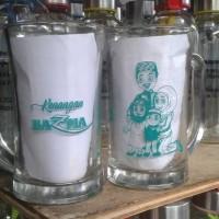 gelas gagang cl jumbo bening free cetak nma