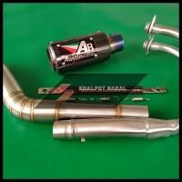 KNALPOT RACING AR AUSTIN CARBON BLUE NINJA 250/CBR250RR/R25/MT25/DLL