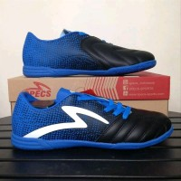 Sepatu futsal specs equinox black tulip blue 400772 original