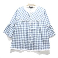 blouse/atasan/baju/batik katun rami/linen/jepang wanita premium kotak