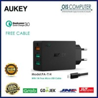 Aukey Power All 3 Port USB Wall Charger PA-T14 Quick Charge 3.0 PAT14