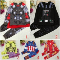 baju superhero avengers/kostum captain america/iron man/thor/black pan
