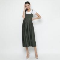 duapola Plisket Overall Dress 8188 - Green Army