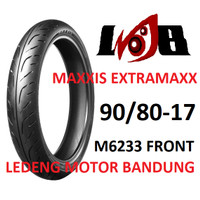 Maxxis 90/80-17 Extramaxx M6233 Front Ban Motor Tubeless Depan