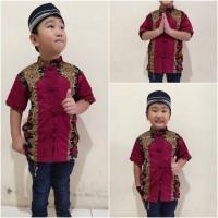Baju koko Zakir batik lengan pendek anak