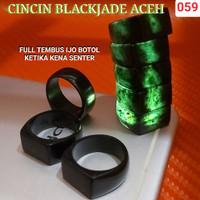 RING CINCIN JARI BATU BLACK JADE TEMBUS IJO BOTOL DAN LENGKET MAGNIT