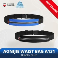Tas Pinggang lari sepeda gym AONIJIE A131 Black/Black zipper
