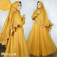 Gamis / Baju / Setelan Wanita Muslim New Mozza Syari + hijab (2)