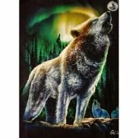 T shirt / kaos glow in the dark 3 dimensi SERIGALA WOLF