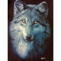 T shirt / kaos glow in the dark 3 dimensi SERIGALA SRIGALA WOLF