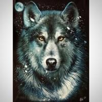 T shirt / kaos glow in the dark 3 dimensi WOLF SERIGALA SRIGALA
