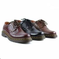 Sepatu Low Boot Pria Docmart Kulit Sapi Asli Sol Karet Anti Slip Kuwat
