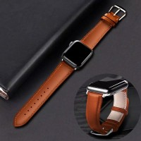 Apple Watch Series 5 4 3 2 1 Genuine Leather Band Strap iWatch 42/44mm