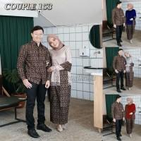 Free selendang Couple Batik Kebaya brukat Sarimbit Baju Batik Gamis