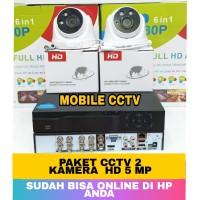 PAKET CCTV HD 5MP 2 KAMERA 2560P KOMPLIT 1TB / HD CCTV 5 MEGAPIXEL