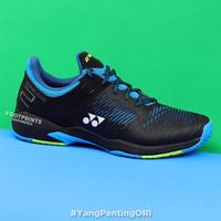 Sepatu Tenis Yonex Power Cushion Sonicage 2 Black Blue Tennis Shoes