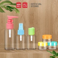Miniso Official 8 Pieces Colorful Traveling Bottle Set (9216 MN)