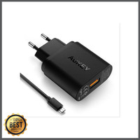 SUPER SALE AUKEY CHARGER SINGLE USB PORT QUICK CHARGE 3 0 WALL CHARGE