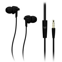 Rock Lava HiFi Earphone dengan Mic - Y1 - Black