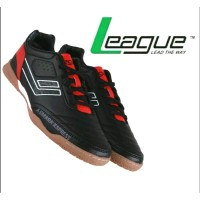 League Original Legas Series Meister LA M Sepatu Futsal - Black-Flame