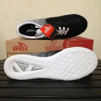 Sepatu futsal specs murah Equinox black white original Berkualitas