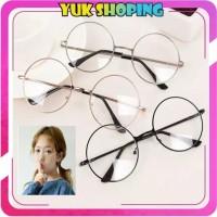 °YukShoping°R092 Kacamata Bulat Fashion Wanita Pria Frame Optik