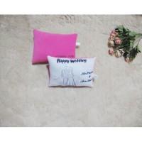 Bantal print bantal custom nama hadiah wedding kado pernikahan 30x20cm