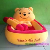 Kasur + Bantal anti peyang + Guling bayi karakter winnie the pooh