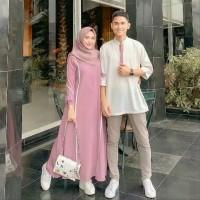 PROMO Baju Gamis wanita Baju Gamis Couple Baju Gamis Farzana Couple