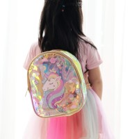 Tas Ransel Anak Perempuan Hologram Unicorn Faye Korean Kids LD 81