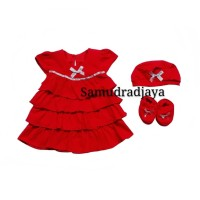 Dress bayi baju set terusan anak perempuan fashion rok bayi cewek lucu